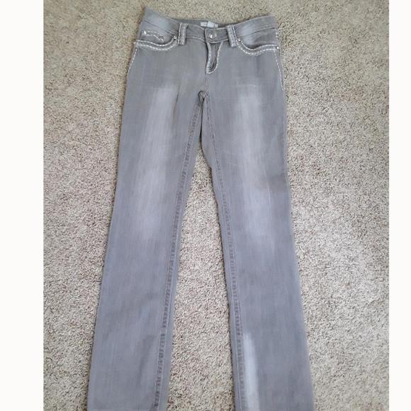 Boston Proper Denim - Boston Proper Gray Embellished Jeans